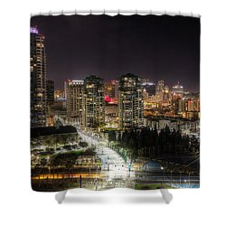 Shower Curtain featuring the photograph Nighttime by Heidi Smith