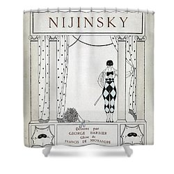 Nijinsky Title Page Shower Curtain by Georges Barbier