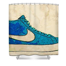 Nike Blazer Turq 2 Shower Curtain by Alfie Borg