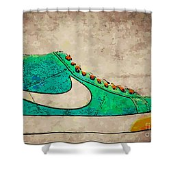 Nike Blazers Shower Curtain by Alfie Borg