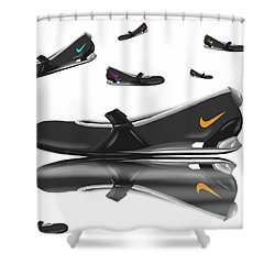 Nike Shower Curtain by Veronica Minozzi
