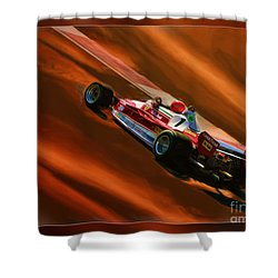 Niki Lauda's Ferrari Shower Curtain
