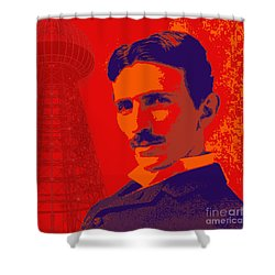 Nikola Tesla #1 Shower Curtain