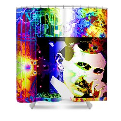 Nikola Tesla  Shower Curtain by Elizabeth McTaggart