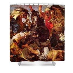 Nilpferdjagd Shower Curtain by Peter Paul Rubens