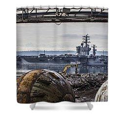 Nimitz - Port Of Everett Shower Curtain