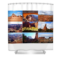 Nine Utah Landmarks Shower Curtain