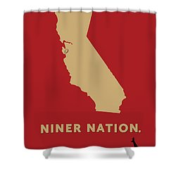Shower Curtain featuring the digital art Niner Nation by Nancy Ingersoll