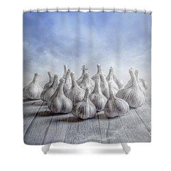 Nineteen Shower Curtain by Veikko Suikkanen