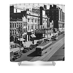 Ninth Street In Brooklyn Shower Curtain by Underwood Archives