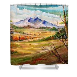 Nipa Hut 2  Shower Curtain by Remegio Onia