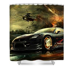 Nissan G T R Shower Curtain by Movie Poster Prints