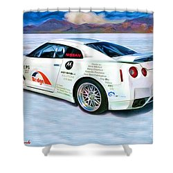 Nissan Salt Flats Shower Curtain