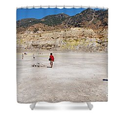 Nisyros Volcano Greece Shower Curtain