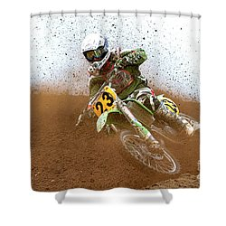 No. 23 Shower Curtain by Jerry Fornarotto