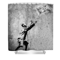 No Ball Games  Shower Curtain by A Rey