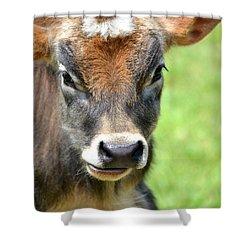 No Bull Shower Curtain by Deena Stoddard