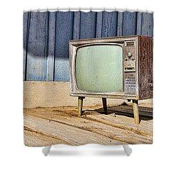 No Channel Surfing - Tv By Diana Sainz Shower Curtain