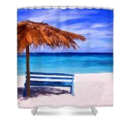 No Coronas Shower Curtain by Michael Pickett