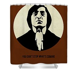 No Country For Old Man Poster Shower Curtain by Naxart Studio