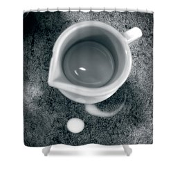 No Cream For My Coffee Shower Curtain by Bob Orsillo