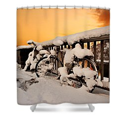 No Cycling Today Shower Curtain