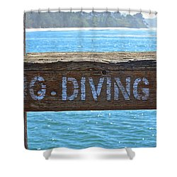 No Diving Shower Curtain