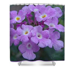 Purple Lantana Shower Curtain