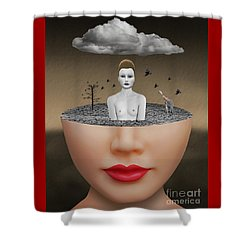 No Escape Shower Curtain by Keith Dillon