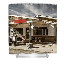 Shower Curtain featuring the photograph No Gas by Steven Bateson