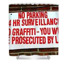 No Graffiti Shower Curtain by Ed Weidman