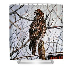 No Hunting Shower Curtain by Craig T Burgwardt