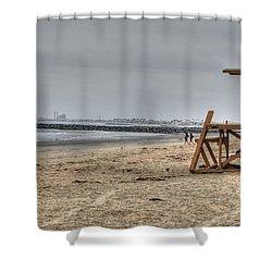 No Lifeguard On Duty Shower Curtain