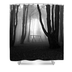 No Man's Land Shower Curtain by Jorge Maia