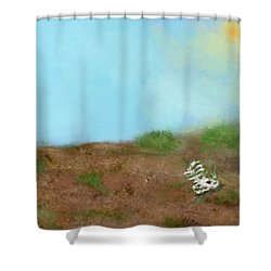 No Man's Land Shower Curtain by Renee Michelle Wenker