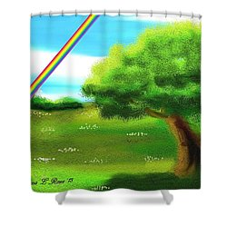 No More Rain Shower Curtain by Shana Rowe Jackson