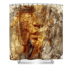 No Name Face Shower Curtain