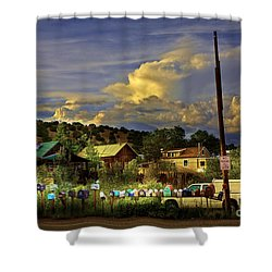 No Parking Anytime I Shower Curtain by Madeline Ellis
