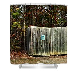 No Parking Shower Curtain by Paulette B Wright