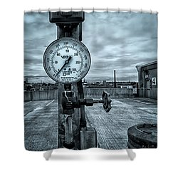 No Pressure Or The Valve At The Top Of The City  Shower Curtain by Bob Orsillo