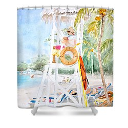 No Problem In Jamaica Mon Shower Curtain
