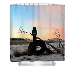No Trespassing Shower Curtain by Desiree Paquette