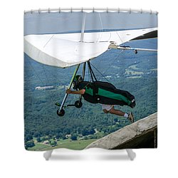 Shower Curtain featuring the photograph No Turning Back by Susan  McMenamin
