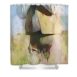 No Useless Cares - Panoramic Shower Curtain