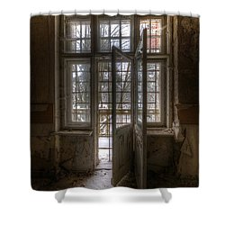 No Way Out Shower Curtain by Nathan Wright