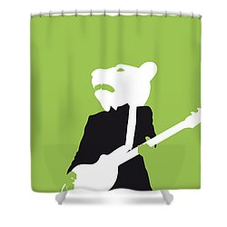 No006 My Teddy Bears Minimal Music Poster Shower Curtain by Chungkong Art