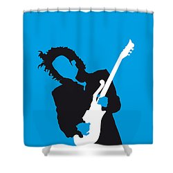 No009 My Prince Minimal Music Poster Shower Curtain by Chungkong Art