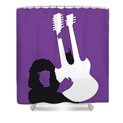 No011 My Led Zeppelin Minimal Music Poster Shower Curtain by Chungkong Art