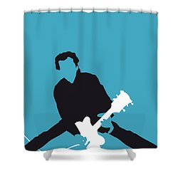 No015 My Chuck Berry Minimal Music Poster Shower Curtain by Chungkong Art