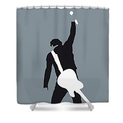 No017 My Bruce Springsteen Minimal Music Poster Shower Curtain